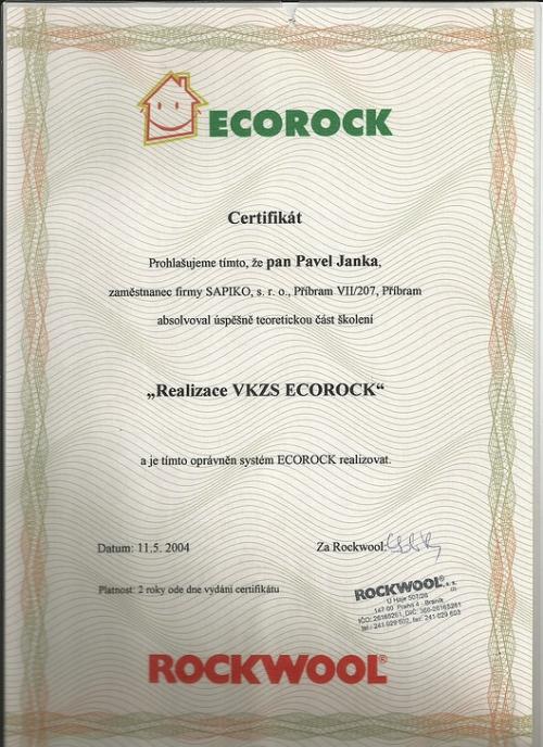 Certifikáty Rockwool